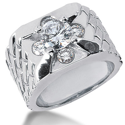 Platinum Men's Diamond Ring 2.30ct Platinum Men's Diamond Ring 2.30ct