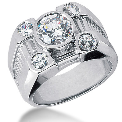 Platinum Men's Diamond Ring 2.80ct Platinum Men's Diamond Ring 2.80ct