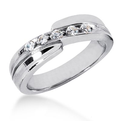 Platinum Men's Diamond Wedding Band 0.15ct Platinum Men's Diamond Wedding Band 0.15ct
