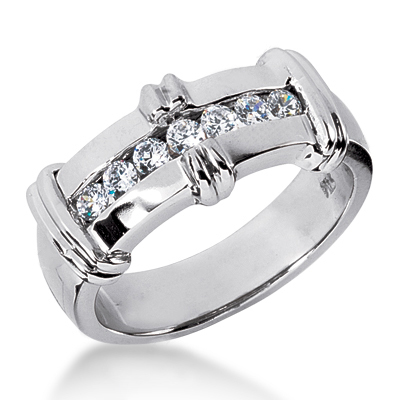 Platinum Men's Diamond Wedding Band 0.42ct Main Image