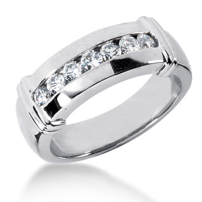 Platinum Men's Diamond Wedding Band 0.49ct Main Image