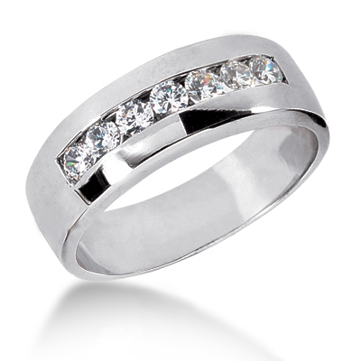 Platinum Men's Diamond Wedding Band 0.63ct Main Image