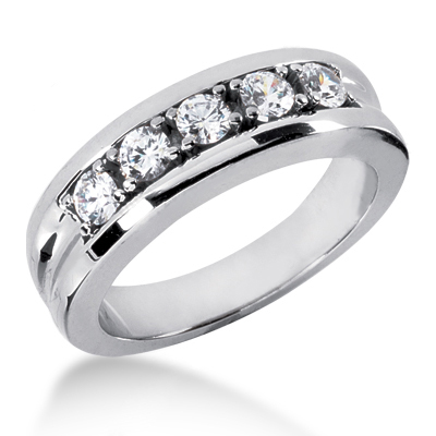 Platinum Men's Diamond Wedding Band 0.75ct Platinum Men's Diamond Wedding Band 0.75ct