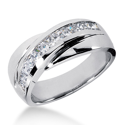 Platinum Men's Diamond Wedding Band 1ct Main Image