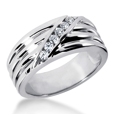 Platinum Men's Diamond Wedding Ring 0.24ct Main Image