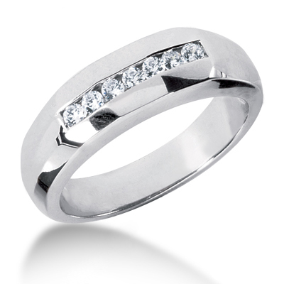Platinum Men's Diamond Wedding Ring 0.25ct Main Image