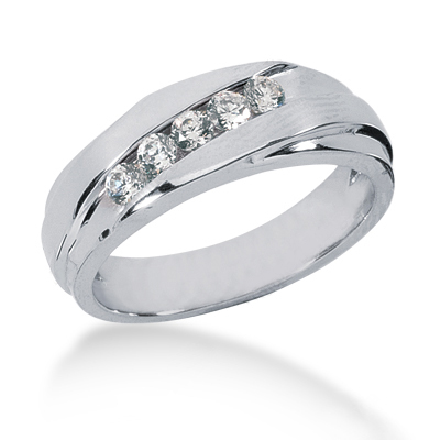 Platinum Men's Diamond Wedding Ring 0.40ct Main Image