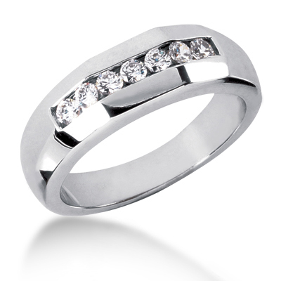 Platinum Men's Diamond Wedding Ring 0.49ct
