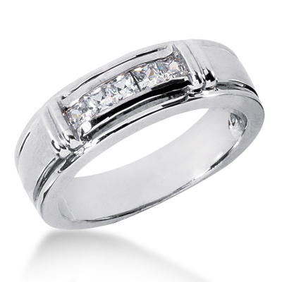 Platinum Men's Diamond Wedding Ring 0.50ct Platinum Men's Diamond Wedding Ring 0.50ct