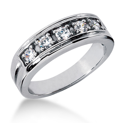 Platinum Men's Diamond Wedding Ring 0.50ct