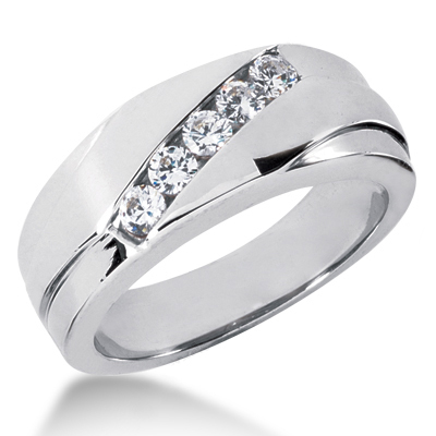 Platinum Men's Diamond Wedding Ring 0.50ct Main Image