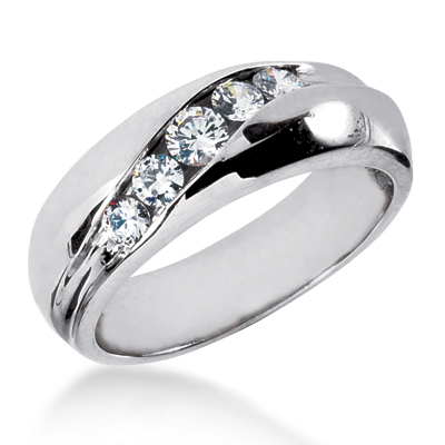 Platinum Men's Diamond Wedding Ring 0.64ct Platinum Men's Diamond Wedding Ring 0.64ct