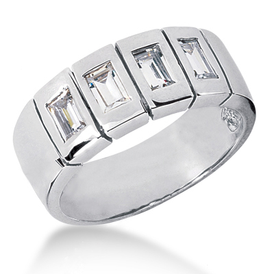 Platinum Men's Diamond Wedding Ring 0.80ct Platinum Men's Diamond Wedding Ring 0.80ct