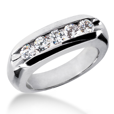 Platinum Men's Diamond Wedding Ring 1.25ct Platinum Men's Diamond Wedding Ring 1.25ct