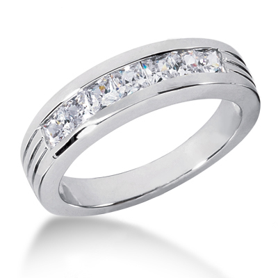 Platinum Men's Diamond Wedding Ring 1.40ct