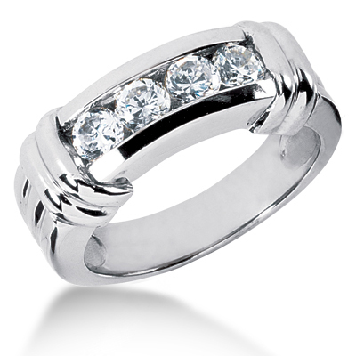 Platinum Men's Diamond Wedding Ring 1ct 6.8mm Platinum Men's Diamond Wedding Ring 1ct 6.8mm