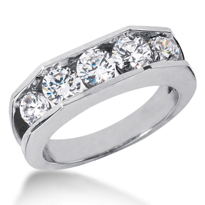 Platinum Men's Diamond Wedding Ring 2.10ct Main Image
