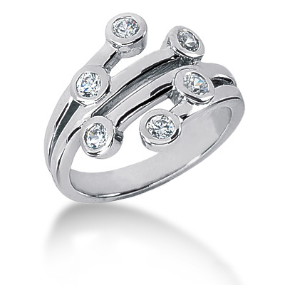 Platinum Right Hand Diamond Ladies Ring 0.42ct Main Image