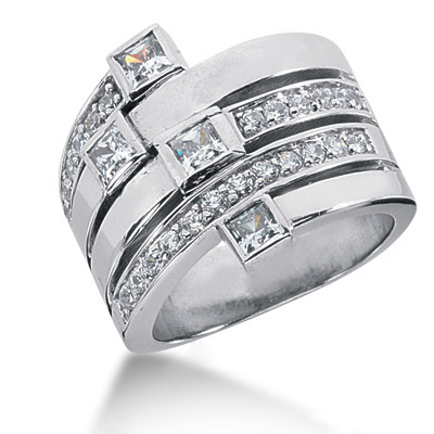 Platinum Right Hand Diamond Ladies Ring 1.16ct Main Image