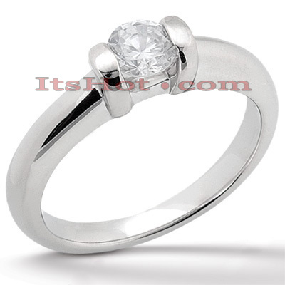 Platinum Round Diamond Engagement Ring 1ct Main Image