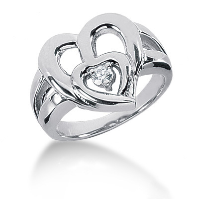 Platinum Round Diamond Ladies Ring 0.10ct Platinum Round Diamond Ladies Ring 0.10ct