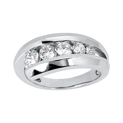 Platinum Round Diamond Ladies Ring 0.31ct Main Image