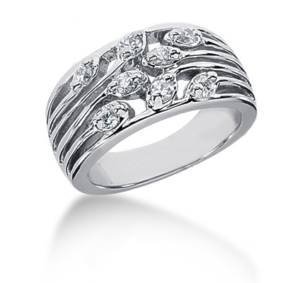 Platinum Round Diamond Ladies Ring 0.32ct Main Image