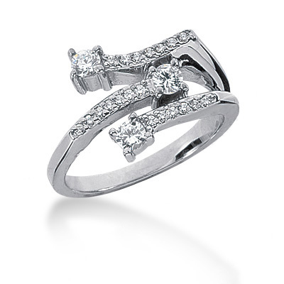 Platinum Round Diamond Ladies Ring 0.40ct Platinum Round Diamond Ladies Ring 0.40ct