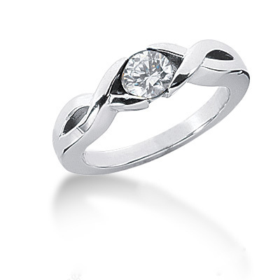 Platinum Round Diamond Ladies Ring 0.50ct Main Image