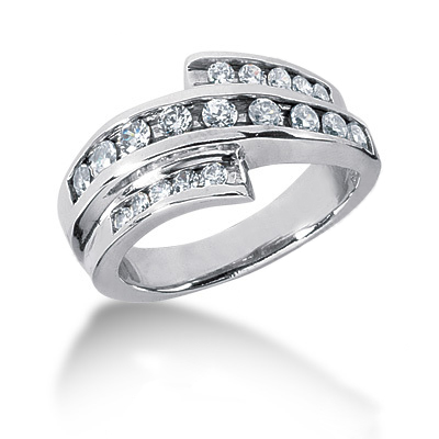 Platinum Round Diamond Ladies Ring 0.56ct