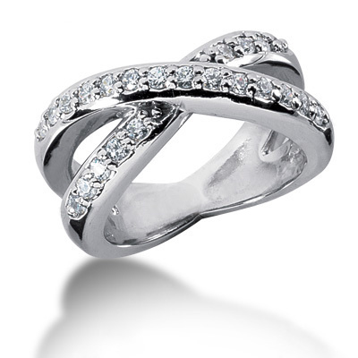 Platinum Round Diamond Ladies Ring 0.58ct