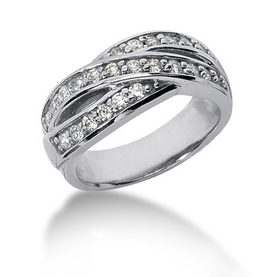 Platinum Round Diamond Ladies Ring 0.60ct Main Image