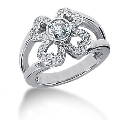 Platinum Round Diamond Ladies Ring 0.63ct Platinum Round Diamond Ladies Ring 0.63ct