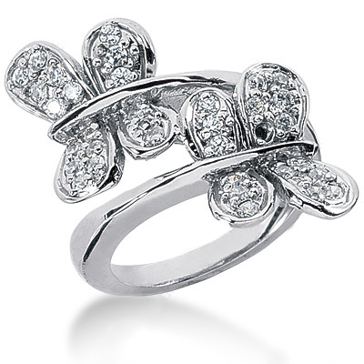Platinum Round Diamond Ladies Ring 0.63ct Main Image