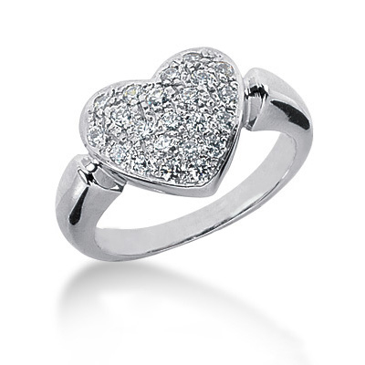 Platinum Round Diamond Ladies Ring 0.66ct Main Image