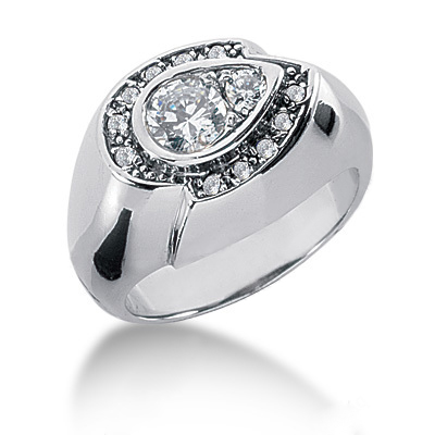 Platinum Round Diamond Ladies Ring 0.68ct Main Image