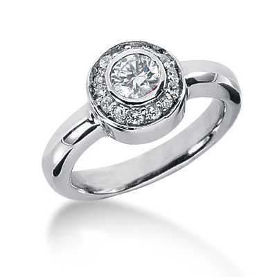 Thin Platinum Round Diamond Ladies Ring 0.71ct Main Image