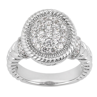 Platinum Round Diamond Ladies Ring 0.72ct 6.3mm Main Image