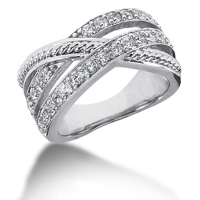 Platinum Round Diamond Ladies Ring 0.75ct Main Image