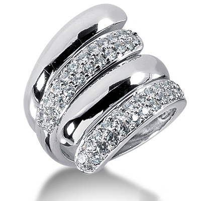 Platinum Round Diamond Ladies Ring 0.80ct Main Image