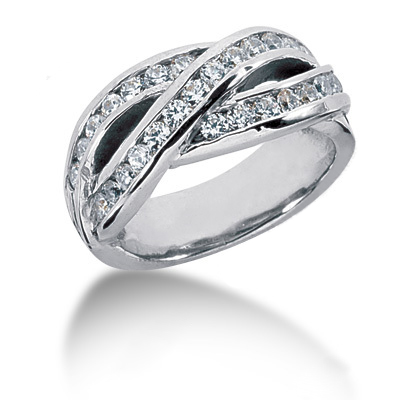 Platinum Round Diamond Ladies Ring 0.81ct Main Image