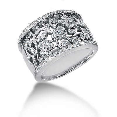 Platinum Round Diamond Ladies Ring 0.85ct Main Image