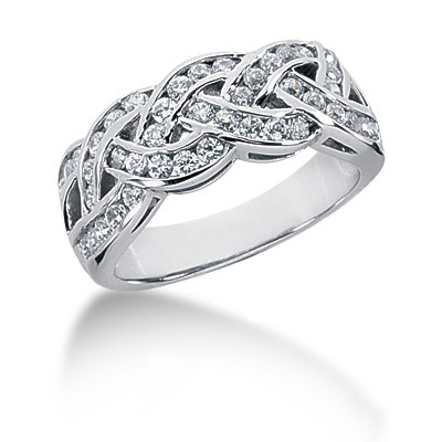 Platinum Round Diamond Ladies Ring 0.92ct Main Image