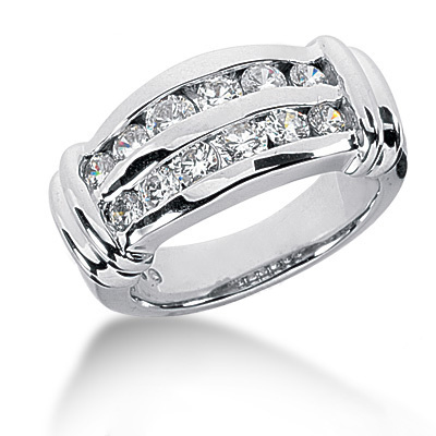 Platinum Round Diamond Ladies Ring 0.96ct Main Image