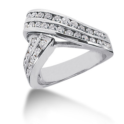 Platinum Round Diamond Ladies Ring 1.05ct Main Image