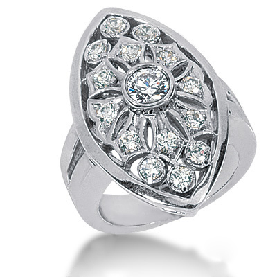 Platinum Round Diamond Ladies Ring 1.05ct Platinum Round Diamond Ladies Ring 1.05ct
