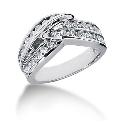 Platinum Round Diamond Ladies Ring 1.08ct