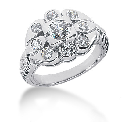 Platinum Round Diamond Ladies Ring 1.09ct Platinum Round Diamond Ladies Ring 1.09ct