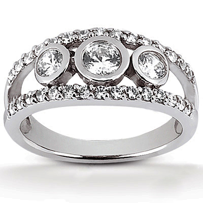 Platinum Round Diamond Ladies Ring 1.12ct Platinum Round Diamond Ladies Ring 1.12ct