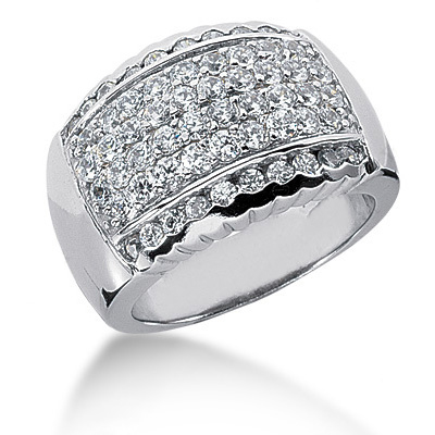 Platinum Round Diamond Ladies Ring 1.16ct Main Image